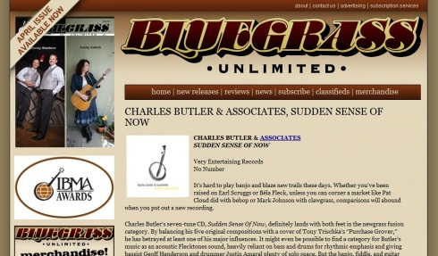 Bluegrass Unlimited - SUDDEN SENSE OF NOW review
